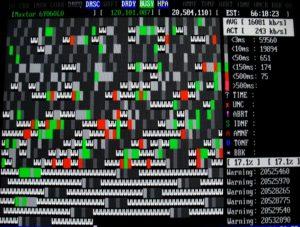 Екран на MHDD