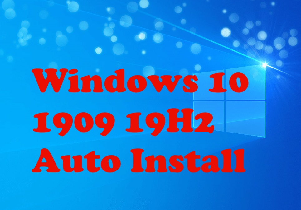 Скоростно автоматично инсталиране на Windows 10  през 2020 година.